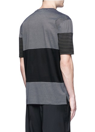 Back View - Click To Enlarge - Lanvin - Colourblock stripe T-shirt