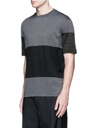 Front View - Click To Enlarge - Lanvin - Colourblock stripe T-shirt