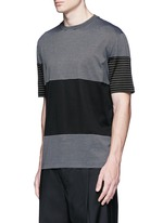 Colourblock stripe T-shirt