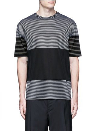 Main View - Click To Enlarge - Lanvin - Colourblock stripe T-shirt