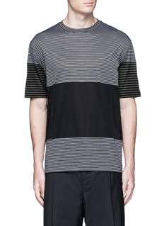 Lanvin Colourblock stripe T-shirt