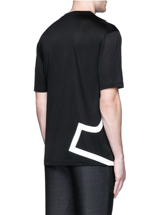Back View - Click To Enlarge - Lanvin - 'L' macro logo print T-shirt