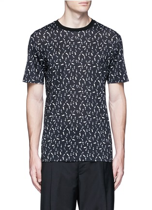 Main View - Click To Enlarge - Lanvin - Footstep print T-shirt