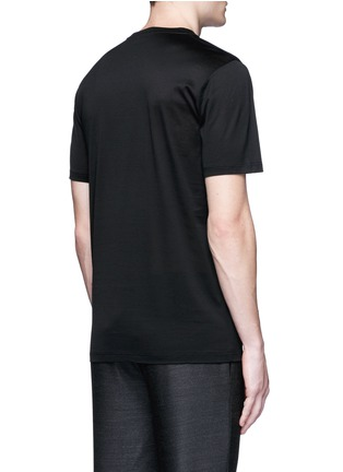 Back View - Click To Enlarge - Lanvin - Footstep embroidery T-shirt