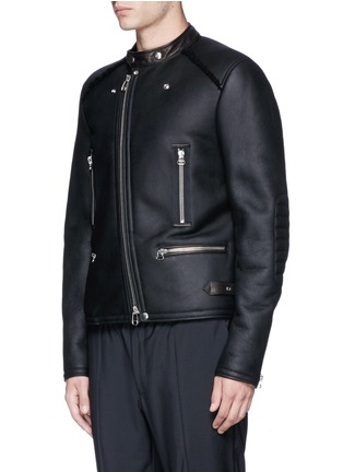 Lanvin - Vintage shearling leather biker jacket