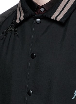 Detail View - Click To Enlarge - Lanvin - Spider embroidery baseball jacket