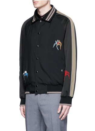 Front View - Click To Enlarge - Lanvin - Spider embroidery baseball jacket