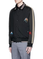 Spider embroidery baseball jacket