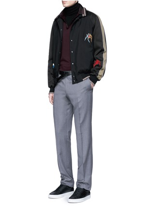 Figure View - Click To Enlarge - Lanvin - Spider embroidery baseball jacket