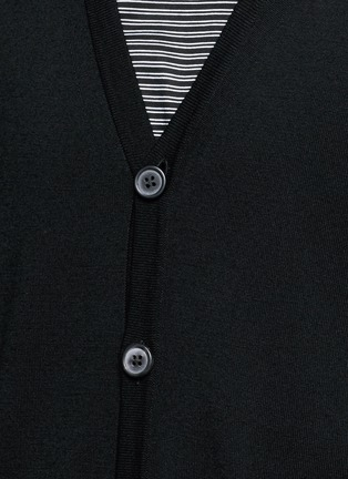 Detail View - Click To Enlarge - Lanvin - Mixed media cardigan