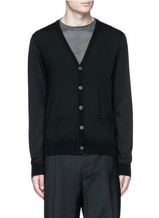 Main View - Click To Enlarge - Lanvin - Mixed media cardigan