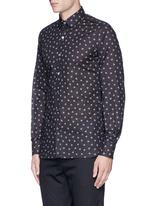 Slim fit spider print cotton shirt