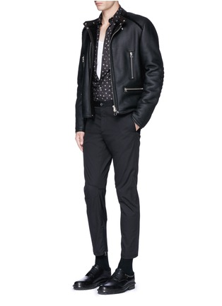 Figure View - Click To Enlarge - Lanvin - Slim fit spider print cotton shirt