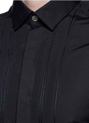 Detail View - Click To Enlarge - Lanvin - Slim fit bib front tuxedo shirt