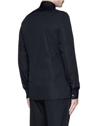 Back View - Click To Enlarge - Lanvin - Slim fit bib front tuxedo shirt