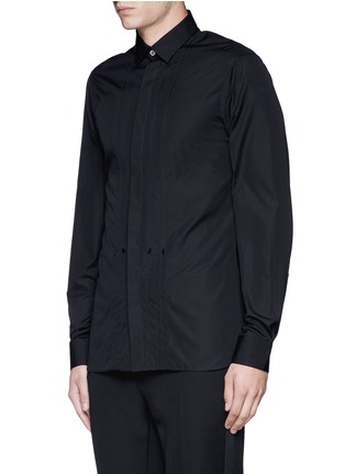 Front View - Click To Enlarge - Lanvin - Slim fit bib front tuxedo shirt