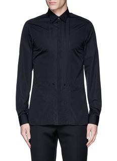 LanvinSlim fit bib front tuxedo shirt