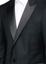 'Attitude' satin trim wool tuxedo suit