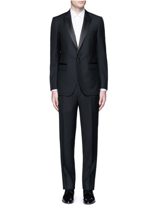 Main View - Click To Enlarge - Lanvin - 'Attitude' satin trim wool tuxedo suit