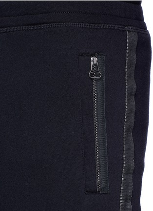 Detail View - Click To Enlarge - Lanvin - Slim fit ribbon stripe jogging pants