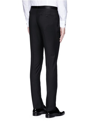 Back View - Click To Enlarge - Lanvin - Slim fit satin trim tuxedo pants