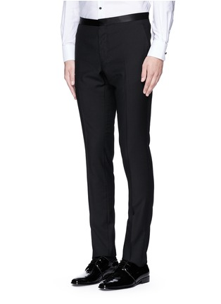 Front View - Click To Enlarge - Lanvin - Slim fit satin trim tuxedo pants