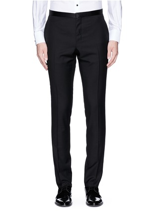 Main View - Click To Enlarge - Lanvin - Slim fit satin trim tuxedo pants
