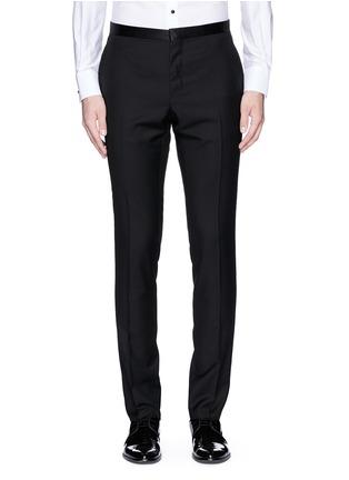 Lanvin-Slim fit satin trim tuxedo pants