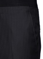Slim fit stripe jacquard wool pants