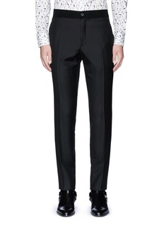 Lanvin Slim fit stripe jacquard wool pants