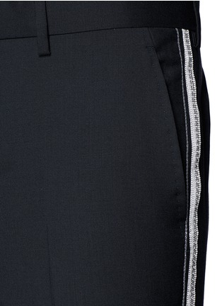 Detail View - Click To Enlarge - Lanvin - Slim fit ribbon stripe wool pants