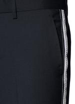 Slim fit ribbon stripe wool pants