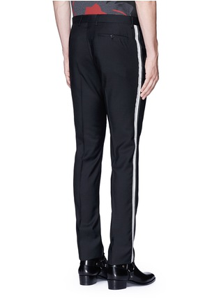 Back View - Click To Enlarge - Lanvin - Slim fit ribbon stripe wool pants