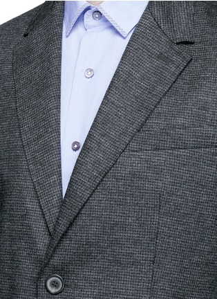 Detail View - Click To Enlarge - Lanvin - Houndstooth wool flannel soft blazer