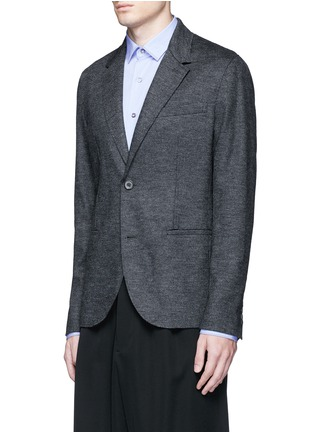 Front View - Click To Enlarge - Lanvin - Houndstooth wool flannel soft blazer