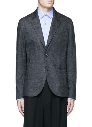 Main View - Click To Enlarge - Lanvin - Houndstooth wool flannel soft blazer