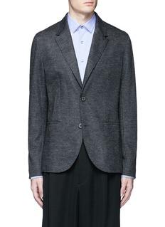 LanvinHoundstooth wool flannel soft blazer