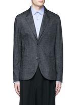 Houndstooth wool flannel soft blazer