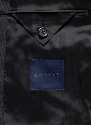 - Lanvin - 'Attitude' woven stripe wool suit