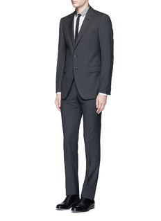 Lanvin 'Attitude' slim fit wool houndstooth suit
