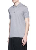 Slim fit reverse seam polo shirt