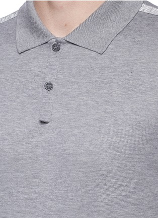 Detail View - Click To Enlarge - Lanvin - Slim fit ribbon shoulder polo shirt