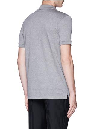 背面 - 点击放大 - LANVIN - 条带装饰单色纯棉polo衫