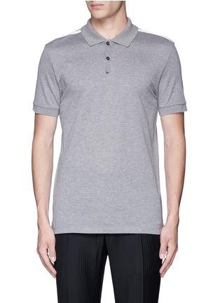 Main View - Click To Enlarge - Lanvin - Slim fit ribbon shoulder polo shirt