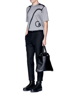Lanvin'L' macro logo print T-shirt