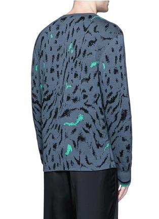 背面 - 点击放大 - LANVIN - 拼色花纹羊毛混丝针织衫