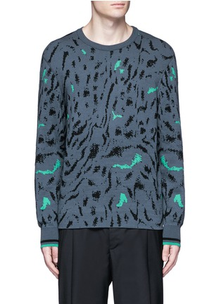 Main View - Click To Enlarge - Lanvin - Fog jacquard wool-silk sweater