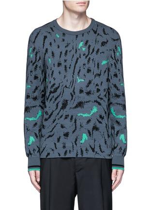 首图 - 点击放大 - LANVIN - 拼色花纹羊毛混丝针织衫