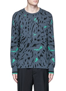 Lanvin Fog jacquard wool-silk sweater