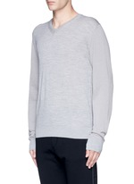 Mixed media sweater